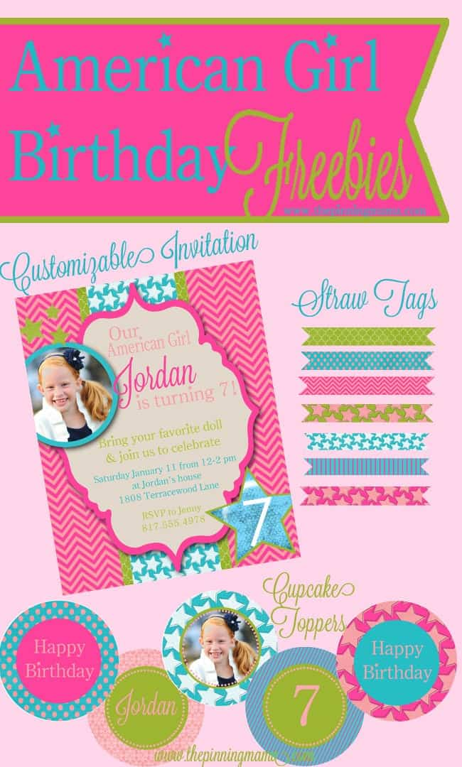American Girl Birthday Free Printables Silhouette Sale The