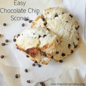 Tender, soft, and perfect chocolate chip scones. This recipe is so EASY!