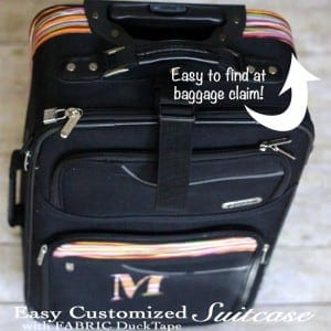 Never lose your suitcase at baggage claim again! Easy Customized Suitcase with Fabric Duck Tape®