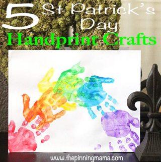 5 Saint Patrick's Day Kid's Hand Print Crafts