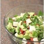 Tomato Mozzarella Avocado Salad with Basil