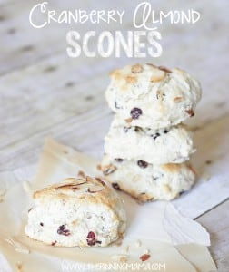 Cranberry Almond Scones - Click here for recipe. So EASY!