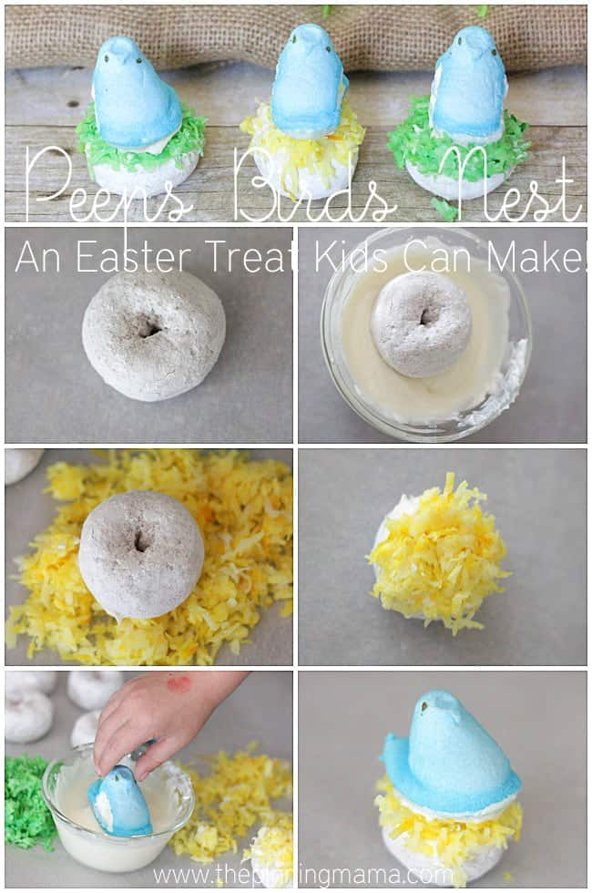 Peeps Birds Nest- The Perfect Easter Activity for Kids!