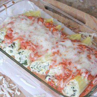 Chicken-Spinach-Artichoke Manicotti