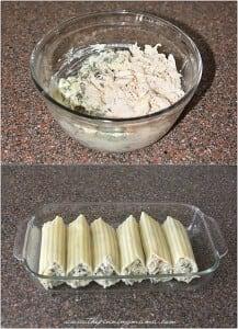 Spinach Artichoke Manicotti recipe