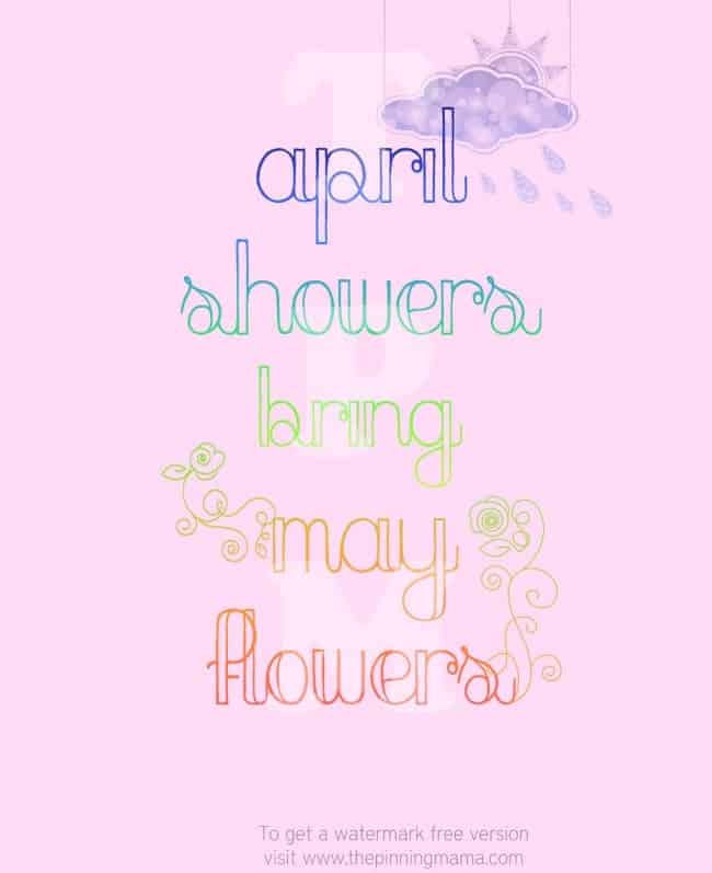 Spring free printable april showers bring may flowers the pinning spring free printable april showers bring may flowers click here to get this printable mightylinksfo