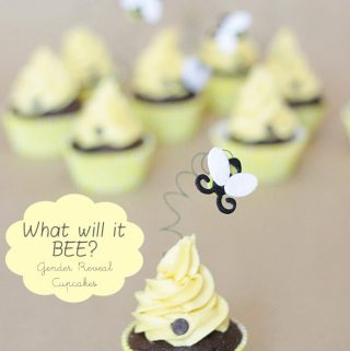 {What will it BEE?} Gender Reveal Cupcakes