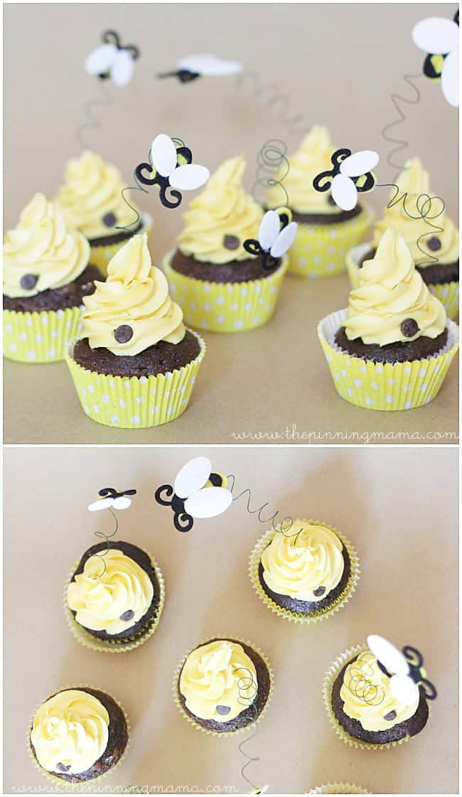 BEE Cupcakes Perfect For A Bee Themed Birthday Party Or Baby Shower