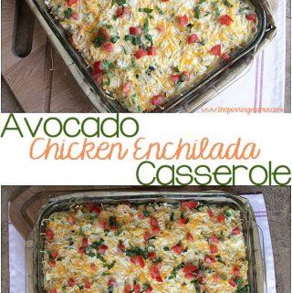 Avocado Chicken Enchilada Casserole