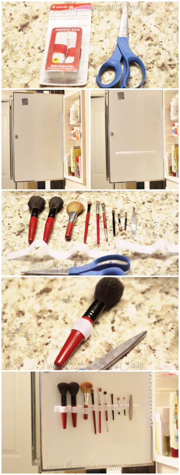 The easiest way to organize your make up brushes!  Genius and it only takes about 5 minutes to do!