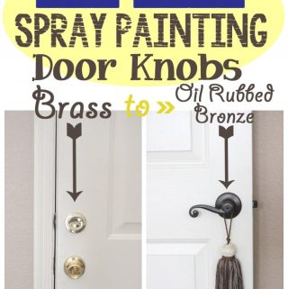 {Pin Test} Spray Painting Your Door Knobs