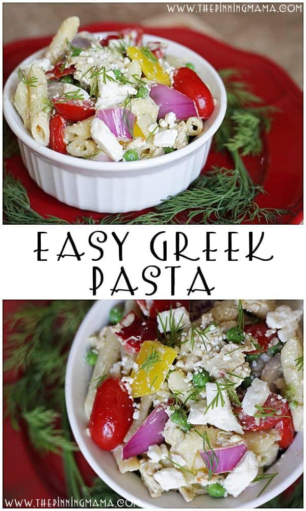 Greek Pasta - An Easy Weeknight Dinner