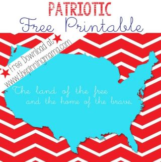 Patriotic Free Printable Word Art