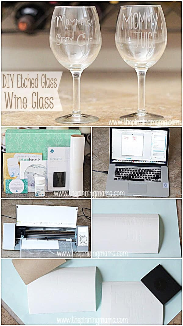 Diy Etched Glass Mommy S Sippy Cup Wine Glass The