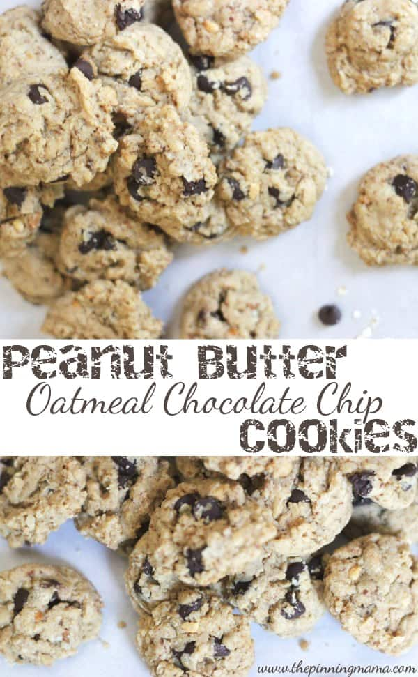 recipes for many years, Peanut Butter Oatmeal Chocolate Chip Cookies ...