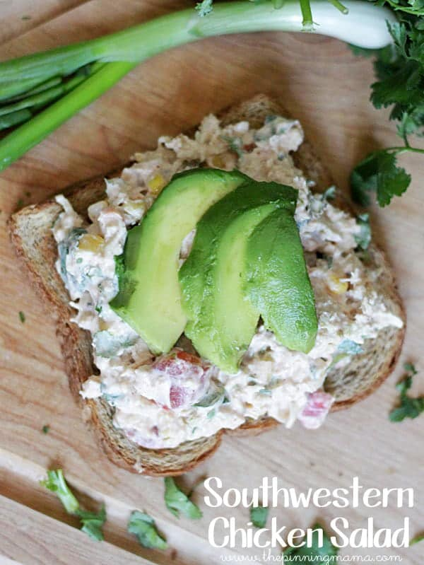 Southwestern Chicken Salad is a delicious twist on classic chicken salad!