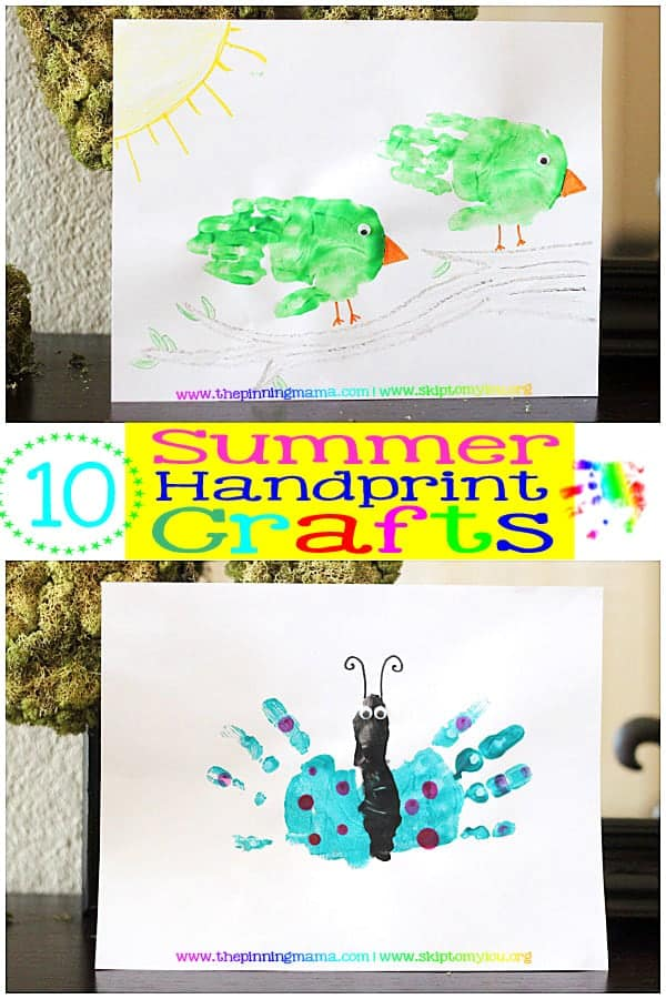 10 Easy Summer Handprint Crafts for Kids - Click here to see all!