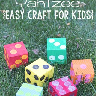 {Lawn Games} DIY Yard Yahtzee
