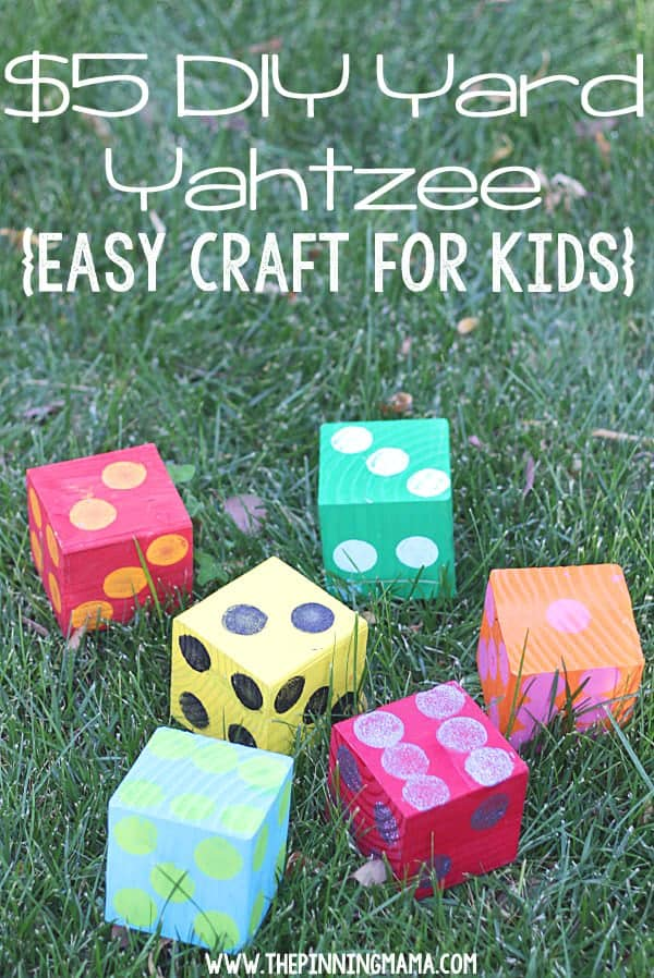 10+ Crazy Fun Outdoor Games Perfect for a Backyard Barbecue: DIY Yard Yahtzee| www.thepinningmama.com
