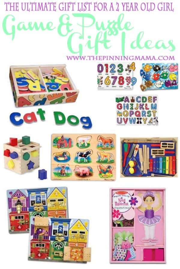 Best game and puzzle gift ideas for a two year old girl