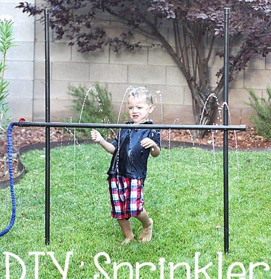 Sprinkler Limbo is easy to make and fun for ALL ages! Perfect for small yards because it takes almost no room to store!