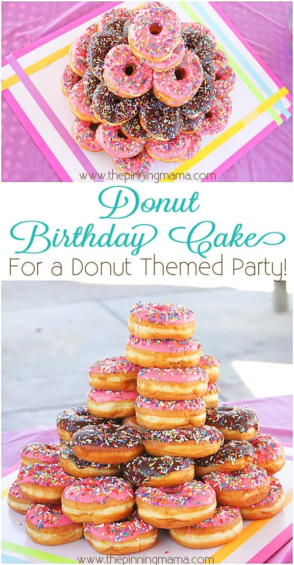 Donut Birthday Cake What A Fun And Simple Theme For Kids Party
