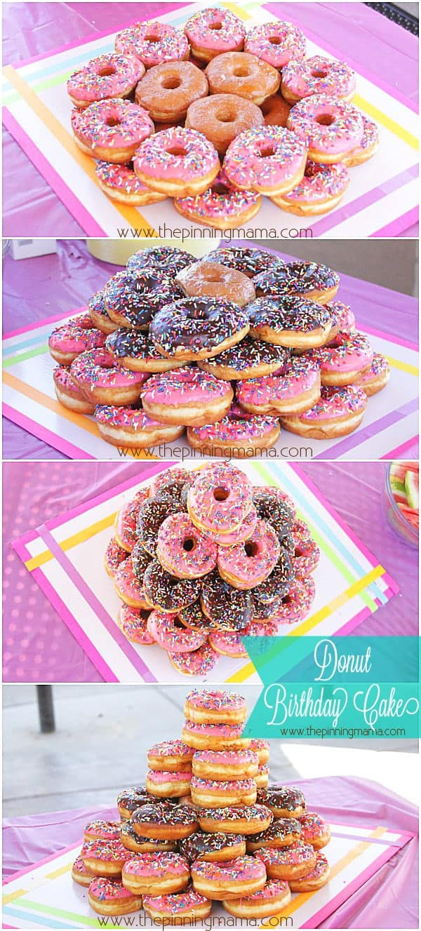 DIY Donut Cake For A Themed Birthday Party So Easy