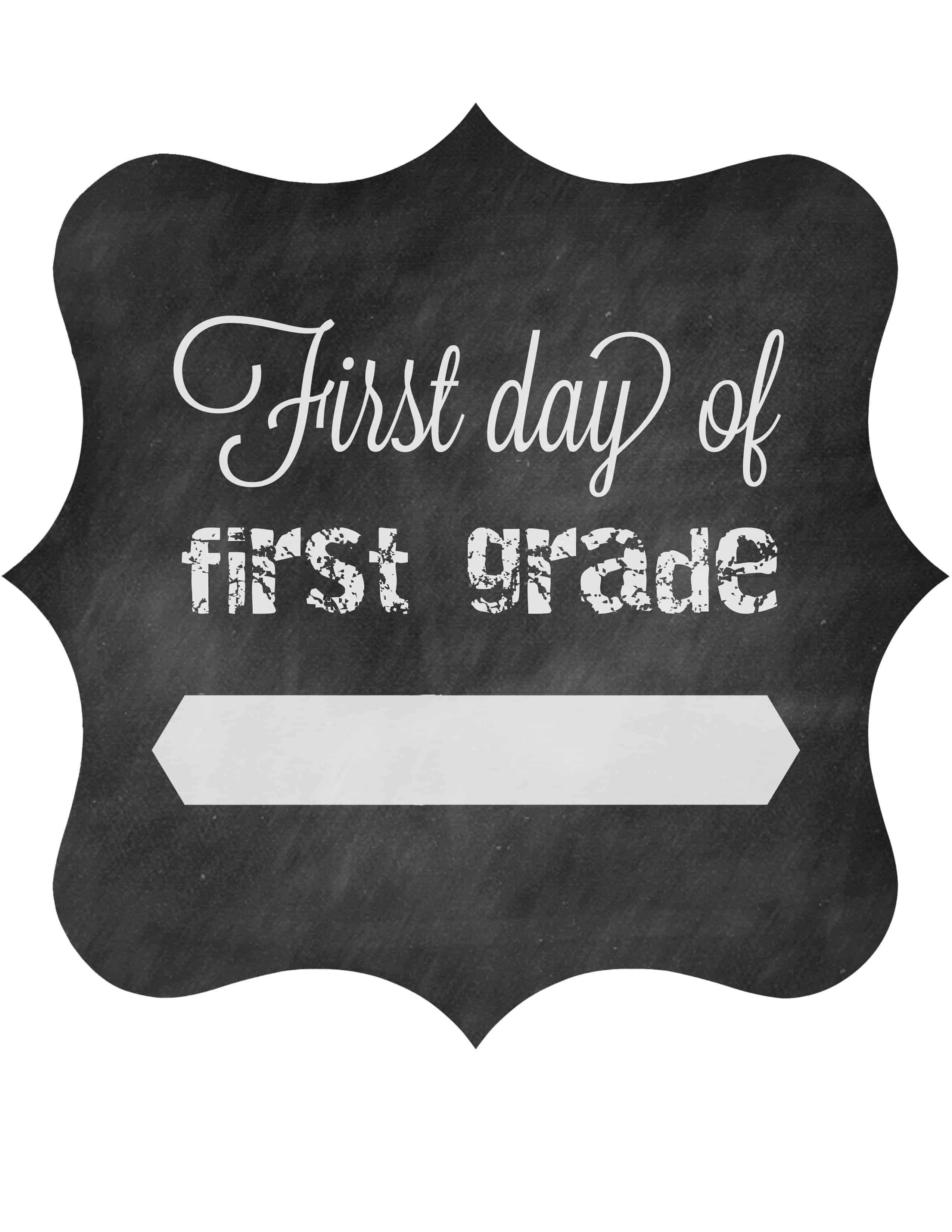 photograph about First Day of Second Grade Printable Sign called Initial Working day of College No cost Printable Indicators 2014 The Pinning Mama