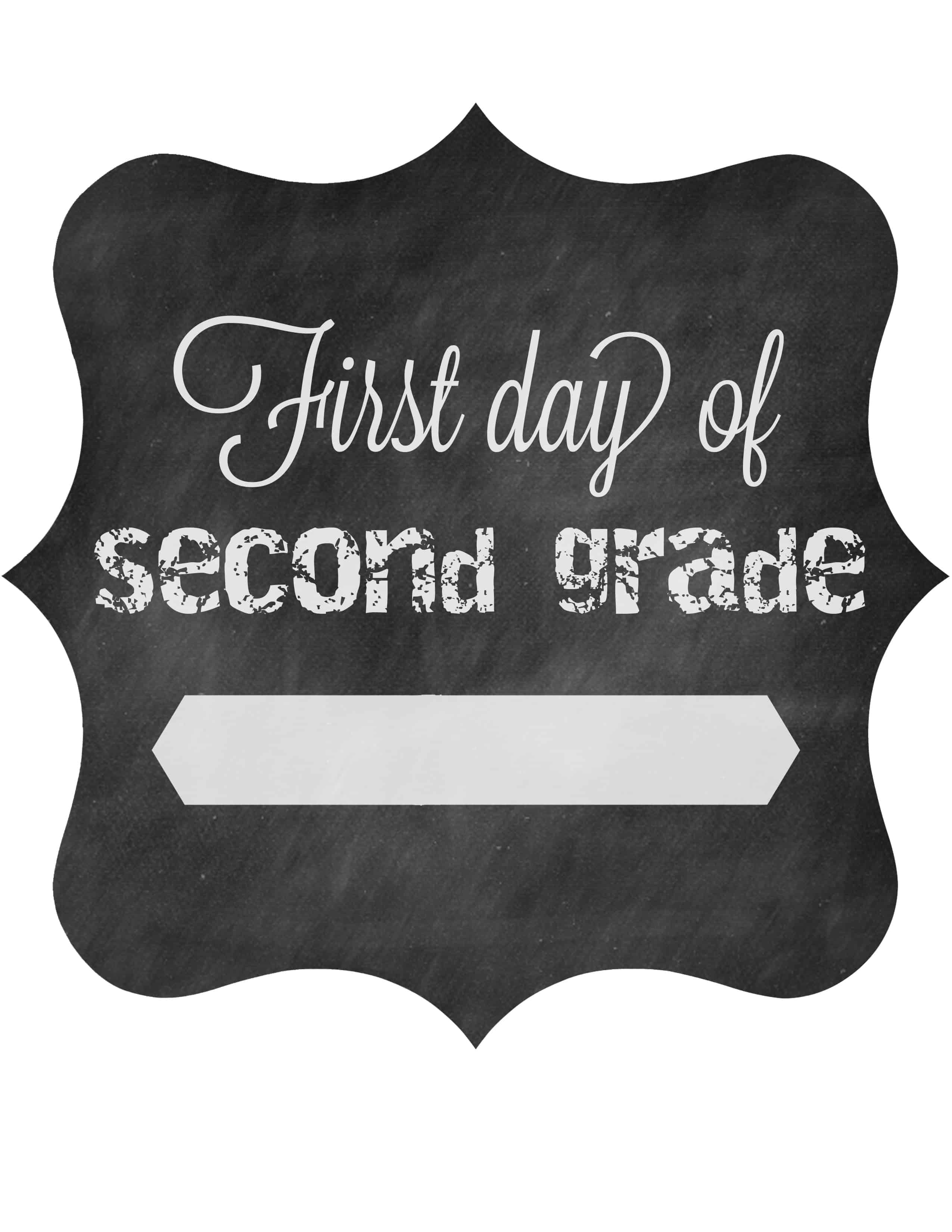 picture about First Day of 3rd Grade Sign Printable identified as Initial Working day of College Totally free Printable Signs or symptoms 2014 The Pinning Mama