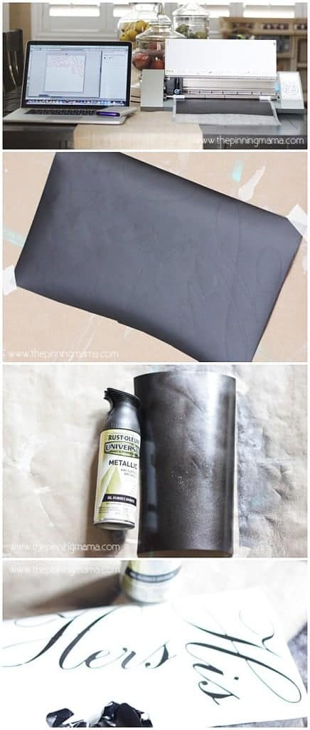 Spray Paint your Vinyl to match any finish in your home! Click here to see how!
