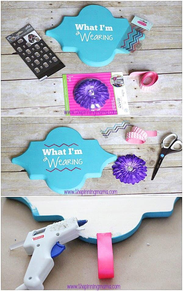 Easy DIY School Day Outfit Organizer #thebigbling
