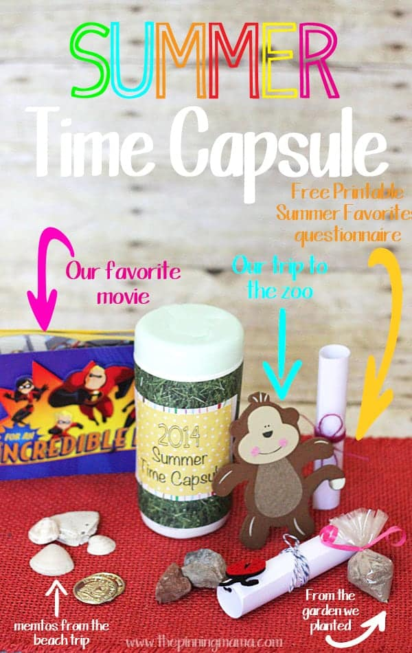 Create a Summer Time Capsule with your Family to keep all of the memories of your vacations and summer activities. Hide it away over the rest of the year and have fun reliving all of the great memories at the beginning of the next summer.