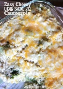 Easy Cheesy Chicken Broccoli Rice Casserole - One of our family's favorite weeknight meals!