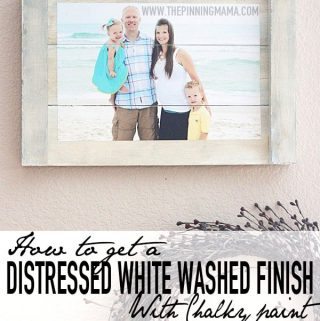 How to get a Distressed White Washed Finish with Chalky Paint