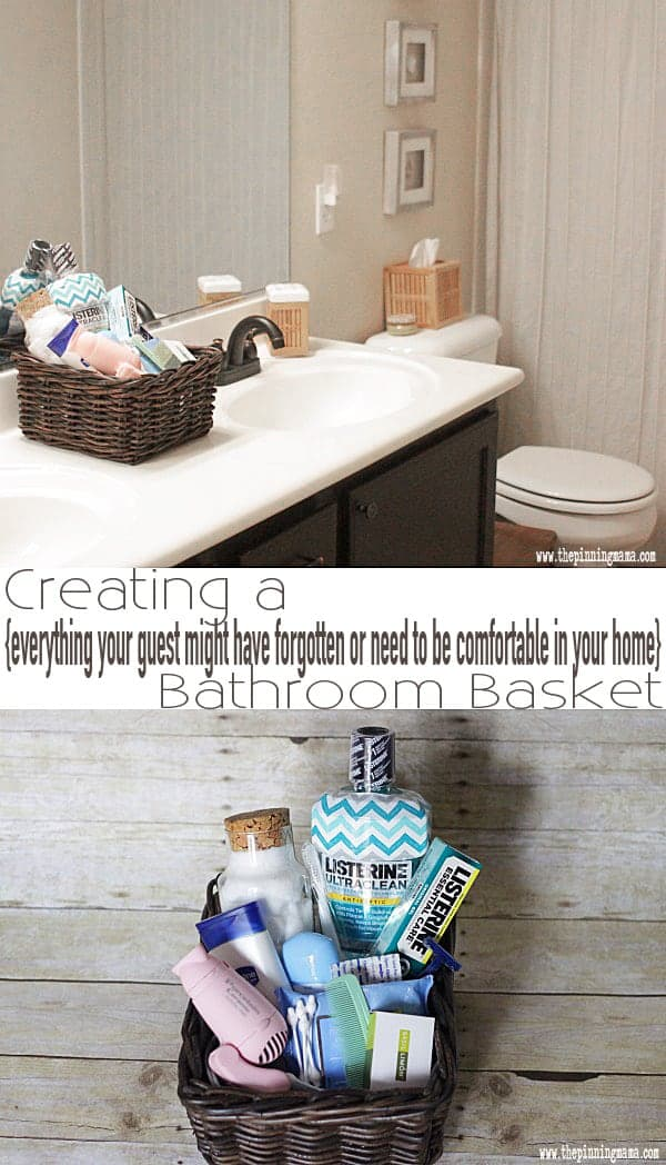 Having a guest basket for the bathroom - GENIUS! This blog tells everything you would want to include for what a guest might need!
