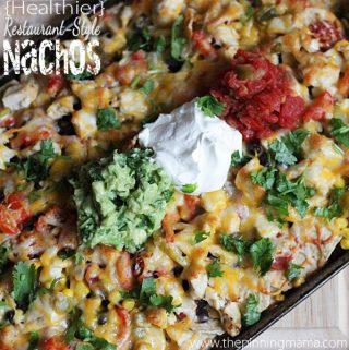 {Healthier} Restaurant Style Nachos Recipe