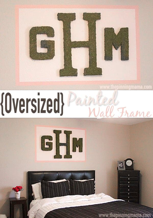Painting a frame around large objects on the wall is a totally easy and affordable way to make a statement!