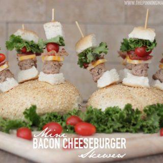 {Appetizers} Mini Bacon Cheeseburger Skewers