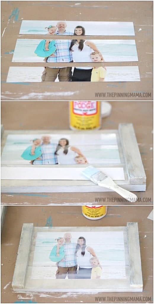 planked picture frame