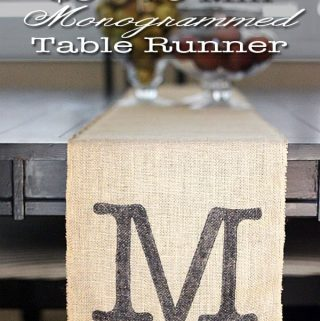 $5 + 10 Minute Easy Monogrammed Table Runner