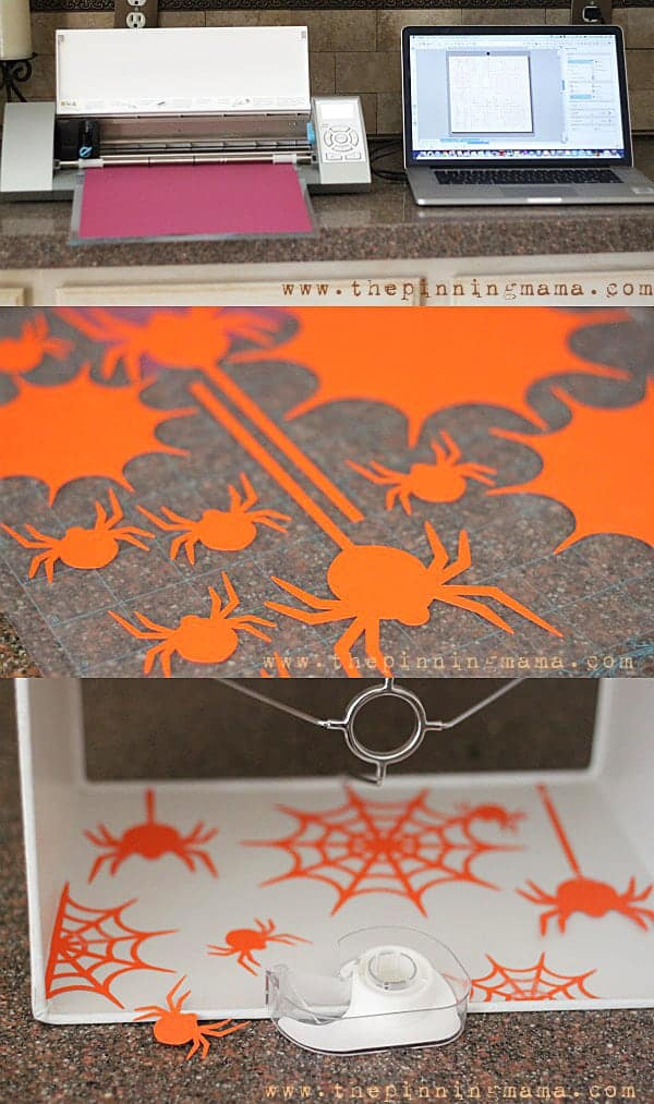 Use your Silhouette CAMEO to make a spooky surprise for Halloween when you turn on your lamps!