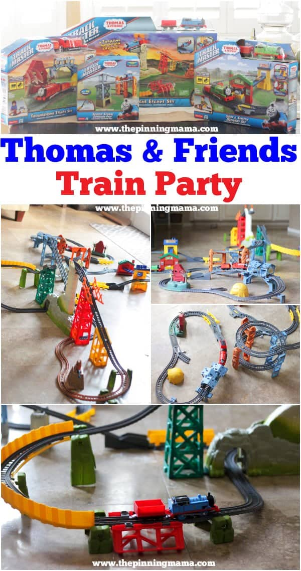Every little boy's dream! Host a Thomas the Train party with lots of fun Thomas & Friends TrackMaster Trains!