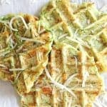 Make eating veggies fun with these delicious zucchini parmesan waffles the whole family will gobble up!