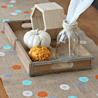 30 Minute Polka Dot Burlap Table Runner