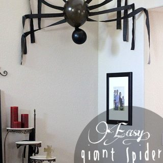 Easy Oversized Spider Halloween Decor