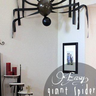 Easy Oversized Spider Halloween Decor