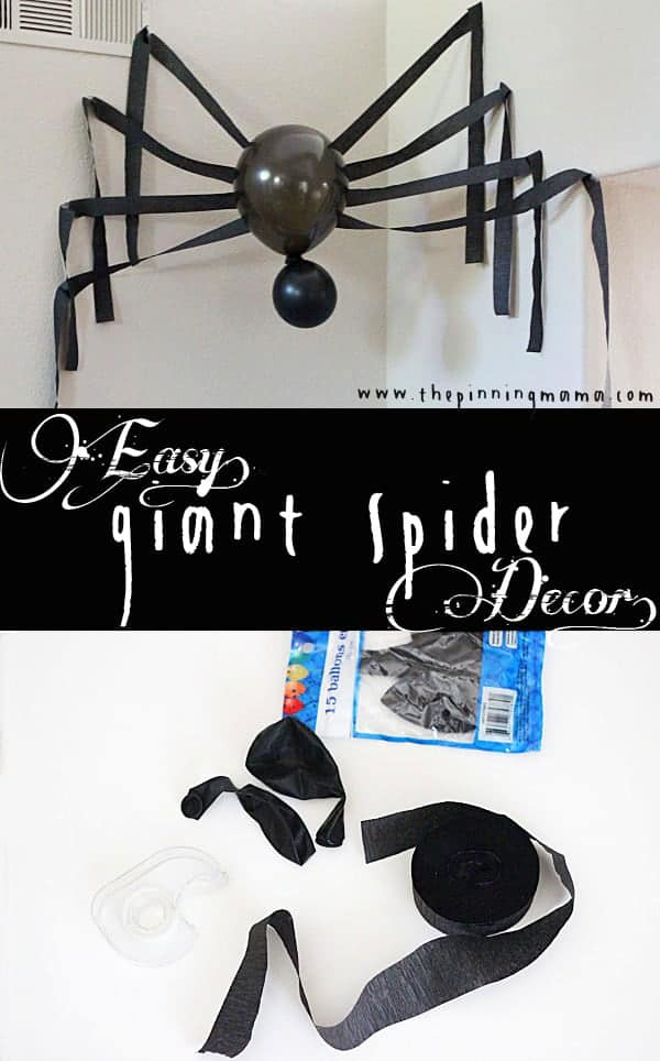 How to make a giant spider in just 10 minutes! Great Halloween decor!