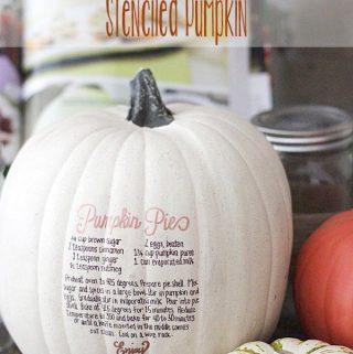 {Easy Fall Decor} Pumpkin Pie Stenciled Pumpkin