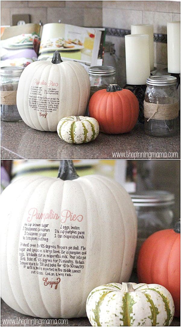 Beautiful + Easy = My kind of fall decor! Doing this for my kitchen!