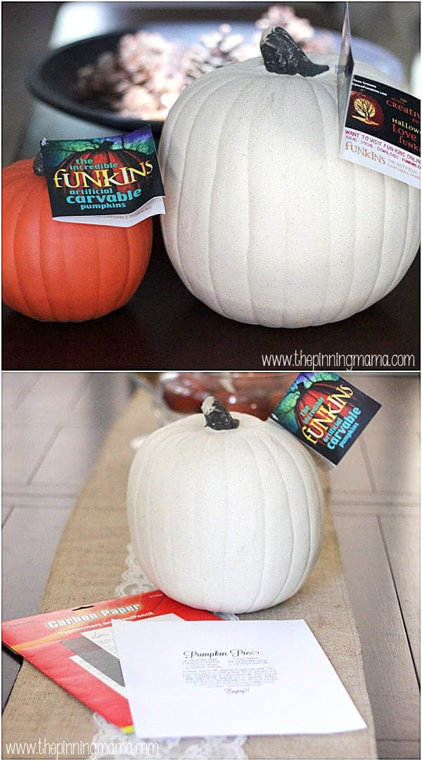 These pumpkins are so cool! They look real, they feel real, you can carve them just like real- only they are fake! I love that they don't rot and you can use them year after year!